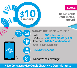 Pay-as-You-Go for $10 for 120 days