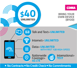 REAL Mobile Unlimited $40.00 Plan
