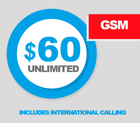 REAL Mobile 60 unlimited with International Calling