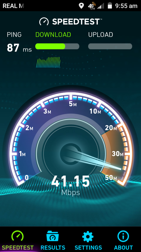 REAL Mobile speed test