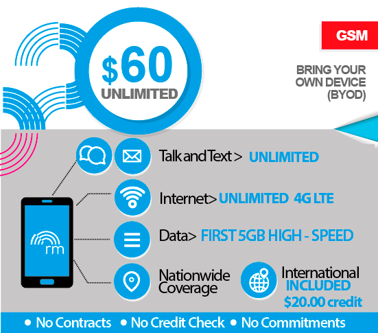 unlimited everything plan with International Calling