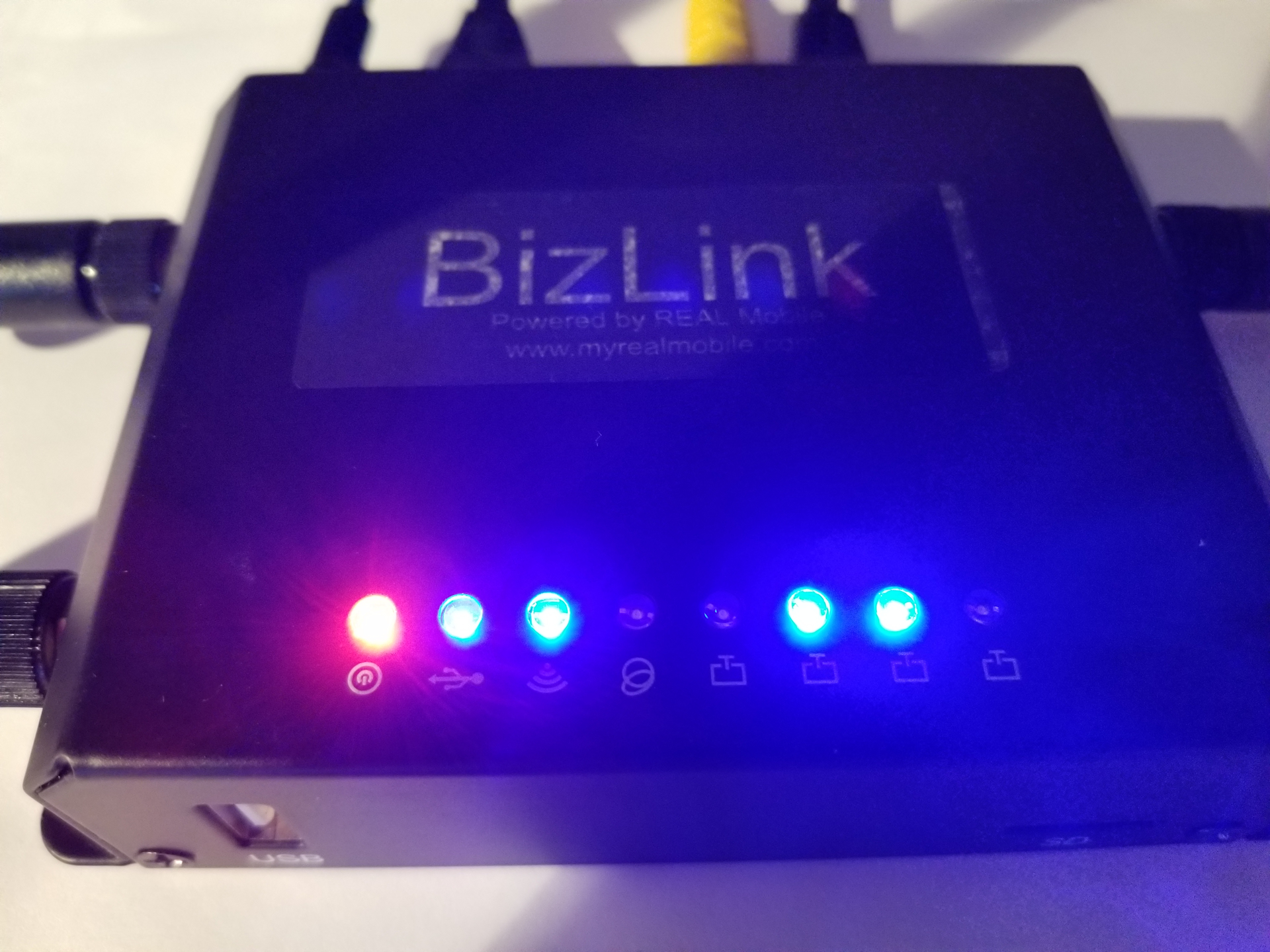 Wired and WIFI Network router with LTE cellular connection